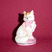 Franklin Mint Staffordshire Curio Cabinet Cat