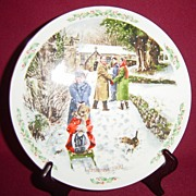 "Royal Doulton Christmas 1992 ""Going to Church"" Collector Plate"