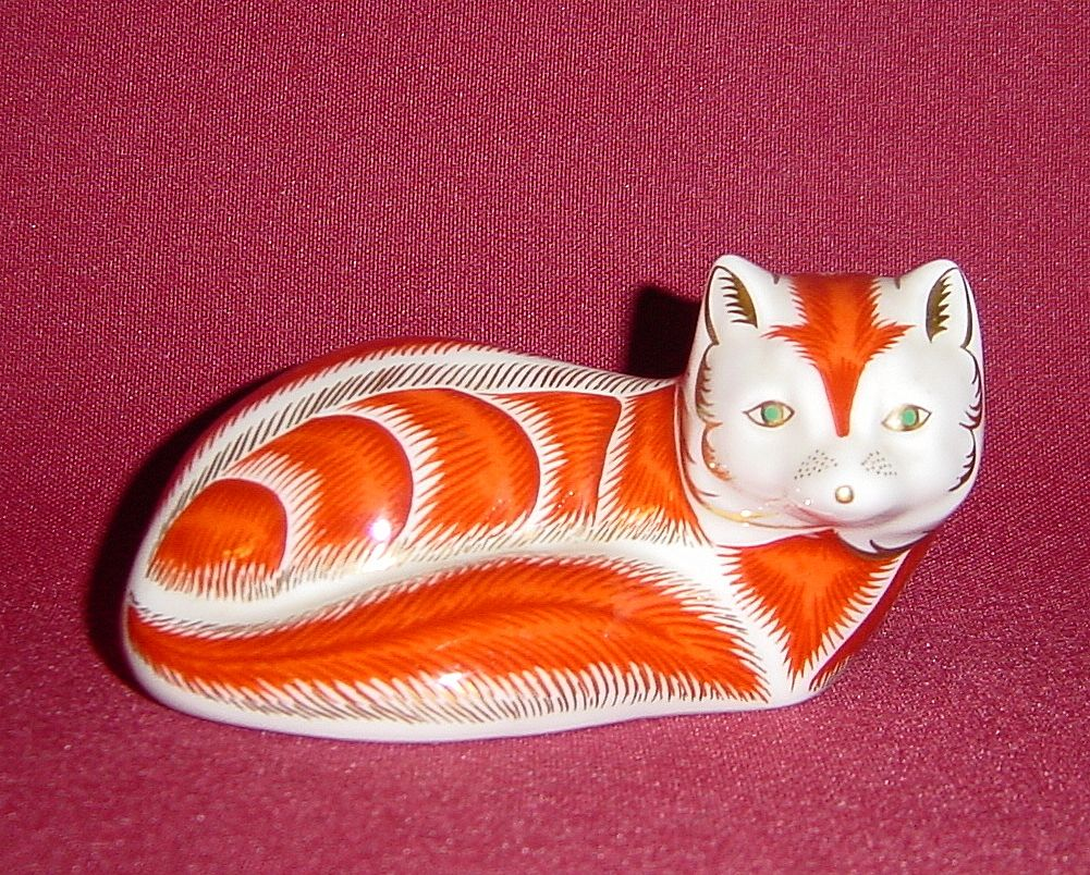 Royal Crown Derby Bone China Fox Paperweight
