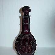 Avon Cape Cod Ruby Glass Decanter