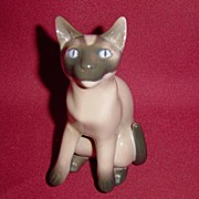 Bing and Grondahl Siamese Sitting Porcelain Cat Figurine #2308