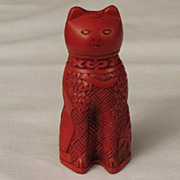 Franklin Mint Cinnabar Curio Cabinet Cat