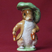 Beswick Beatrix Potter Benjamin Bunny Ears In, Shoes In