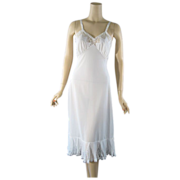 Vintage Slip Dress 1950s 50s White Shadowline Crystal Pleated Sz 34