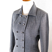 SALE Vintage Suit 1950s 50s Glenhaven Blue Tweed Nipped Waist B34 Size S