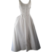 Vintage Sundress White Eyelet Full Skirt Bias Cut Dress B34 W26