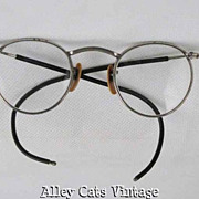 Vintage 1940s Metal Safety Eyeglasses
