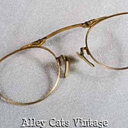 Antique Folding Oxford Pince Nez Eyeglass Frames 12KGF