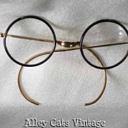 Vintage Antique Eyeglasses Celluloid Saddle Bridge Windsor