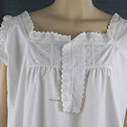 Vintage 19th Century Woman's Chemise Embroidered Trim and Ruffle Cutwork