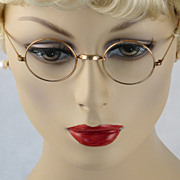 Vintage Antique Eyeglasses 12KGF Saddle Bridge Windsor