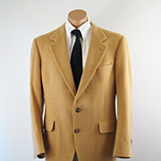 Vintage Mens Lord & Taylor Sports Jacket 100% Camel Hair C46 W42 L32