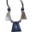 Art Deco Era Jakob Bengel Germany Blue Galalith Necklace