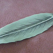 Vintage Nye Sterling Silver Leaf or Feather Pin
