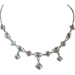 Great Sparkle! Deco Open Back Crystals Necklace with Dangles