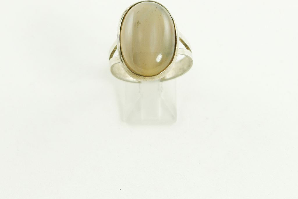 Vintage Men's Sterling Silver Agate Ring