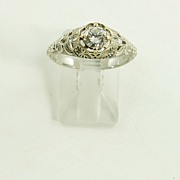 Edwardian Style Filigree Diamond Ring