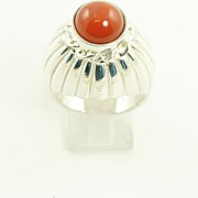 Huge Fantastic Sterling Silver Carnelian Domed Ring