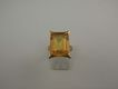 14 Karat Retro ESEMCO Huge Yellow Synthetic Sapphire Ring