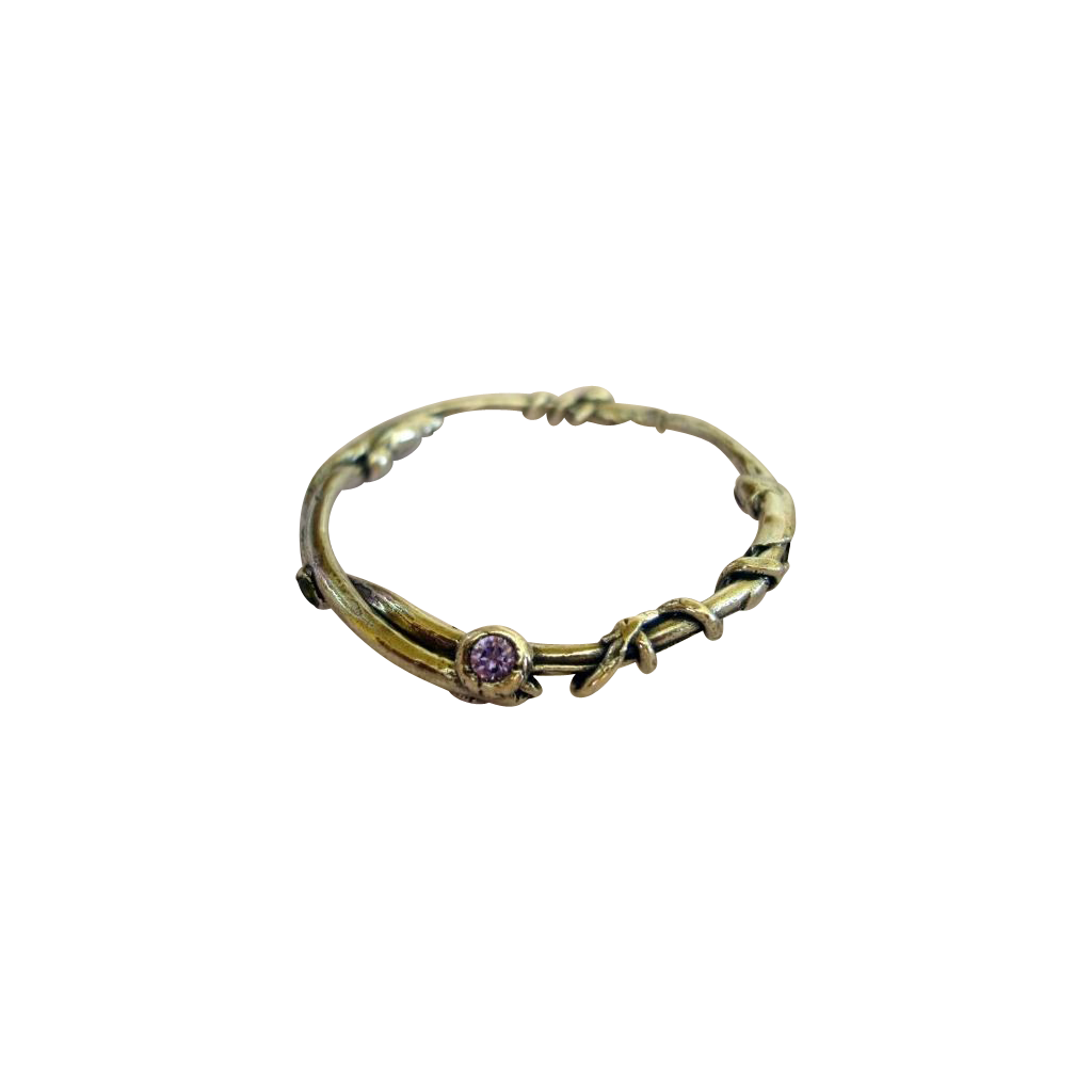 Fine Silver Bangle Bracelet  and Simulated Amethyst  .999 Custom Order
