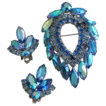 SALE Blue Lagoon Vintage Sarah Coventry Pin Brooch & Earring Set