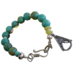 Turquoise Sterling Silver & Fine Silver Charm Bracelet