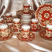 Limoges Styled Wonderful Austria Coffee and Dessert Set