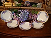JPL Limoges Artist Signed Set of Sweet Violet Dessert Plates