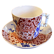 Stunning Circa 1884 Royal Worcester Tea Cup & Saucer Decorated in the Aesthetic Style