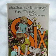 All Sorts Of Birthday Fun Postcard Girls With Dogs Dolls Rabbit