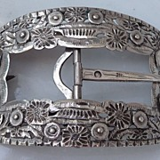 Beautiful Large  Dutch Silver Buckle ca. 1900