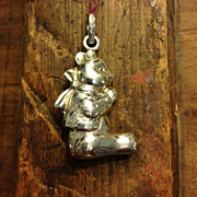 Sterling Mini Teddy Bear Charm RM Trush Cazenovia Abroad