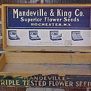 SALE Mandeville Flower Seed Counter Display Box