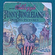 1909 Kellogg Advertising Children's Book Funny Jungleland