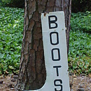"Double Sided ""BOOTS"" Wooden Figural Trade Sign"
