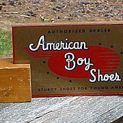 American Boy Shoes Reverse Painted Advertising Store Display
