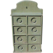 Nice Primitive Spice Cabinet In Sage Green Paint
