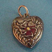Lampl Sterling Puffy Heart Charm