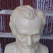 Heavy Molded Plastic Abraham Lincoln Still Bank