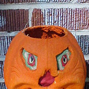 F N Burt Paper Mache Halloween Lantern