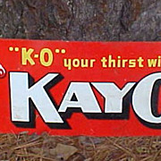 KayO Chocolate Soda Tin Advertising Sign