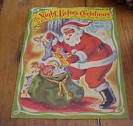 The Night Before Christmas Saalfield Soft Cover Children's Book