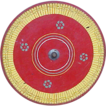 Wonderful Old Wooden Folk Art Carnival Game Gaming Wheel