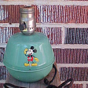 30's Soreng Manegold Mickey Mouse Tin Lamp