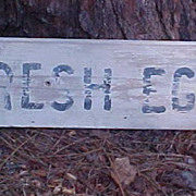 Fresh Eggs Farm Produce Stand Wood Sign