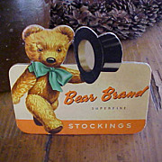 Bear Brand Stockings Advertising Stand Up Counter Display