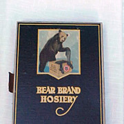 Bear Brand Hosiery Store Box With Black Silk Hose