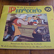 1939 Walt Disney's Pinocchio SC Children's Book