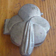 Pretty Easter Lily Pewter Ice Cream Mold