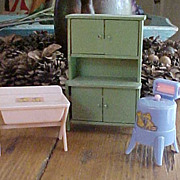 Three Pieces of Dollhouse Furniture